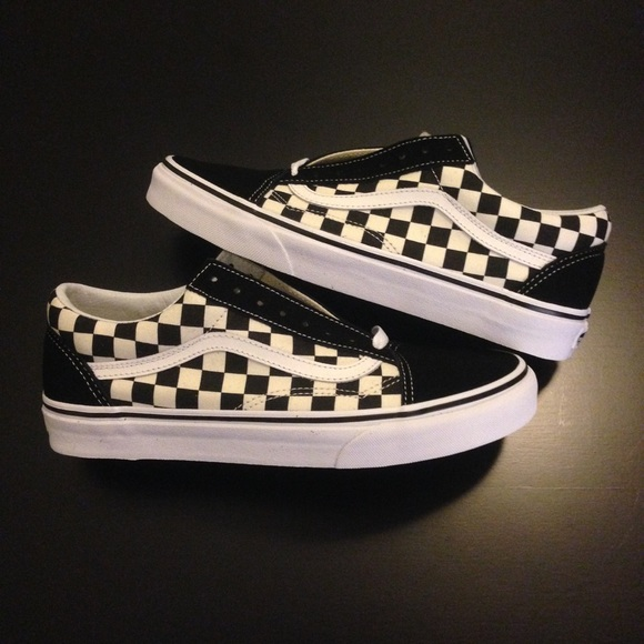 c738bd85ba5bdd VANS OLD SKOOL CHECKERED   check mens women